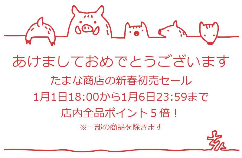 新春初売セール1月1日から1月6日まで