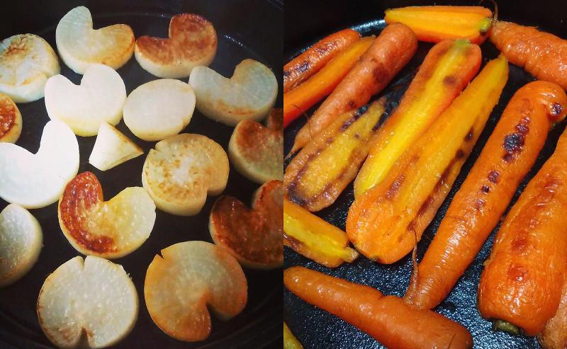 食卓で食べる在来種の野菜