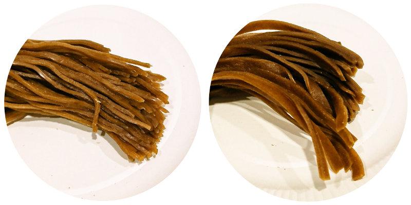 玄米麺 細麺と平麺