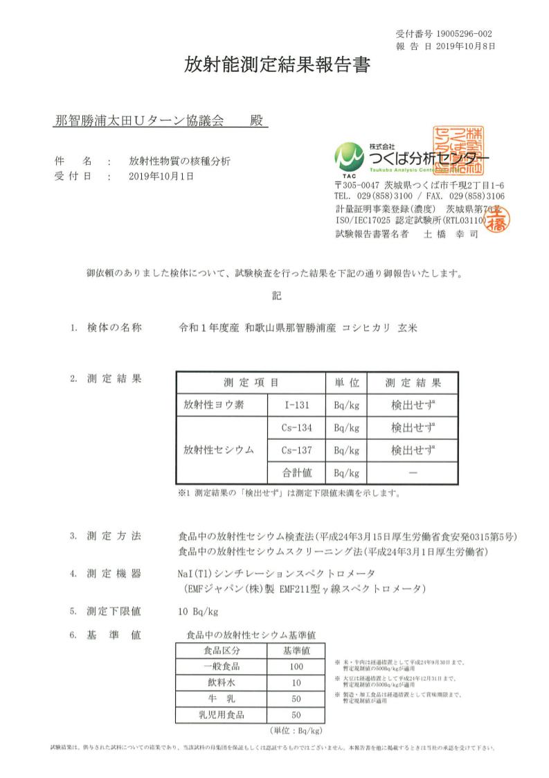 2019年放射能検査