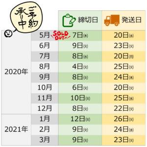 久保さんの納豆のスケジュール
