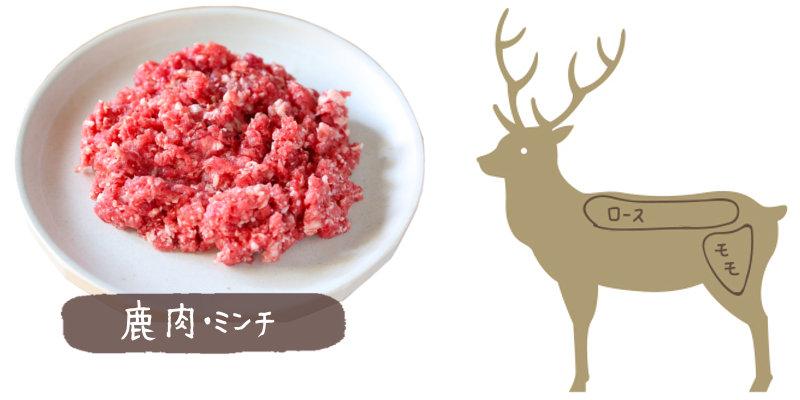 鹿肉部位ミンチ