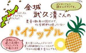 金城武久清さんのパイナップル