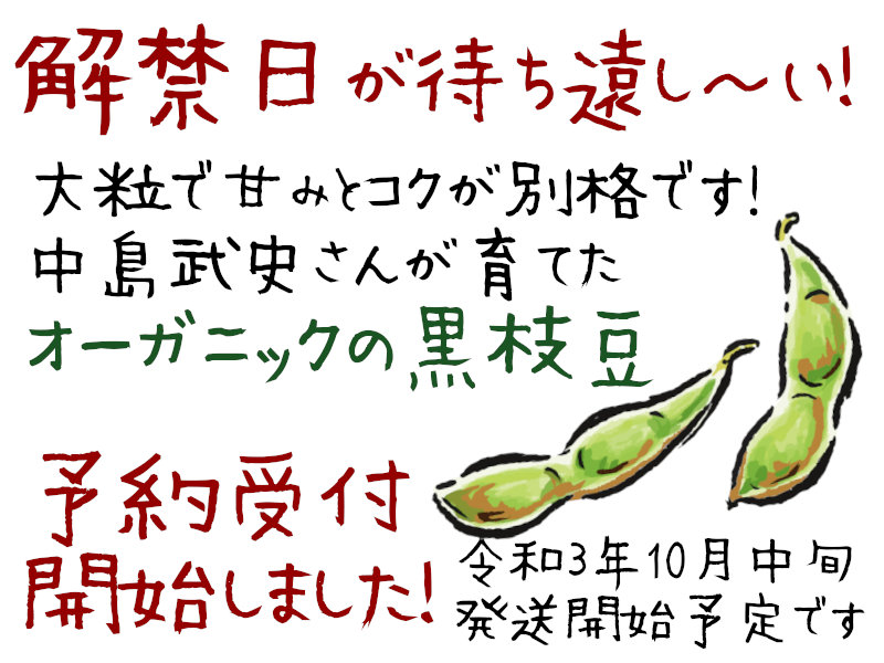 丹波黒枝豆の予約受付開始